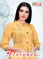 STF Florence Vol-21 Rayon Slub Stylish Short Tops Catalog