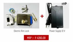 Electric Rim Lock with Power Supply