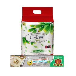 Claret Jumbo Pack 2 In 1 Pack Of Kitchen Roll - 2 Ply With Paramount 1 Kg Net Aluminium Foil Roll