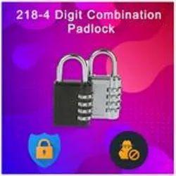 Steel D0218_4 Digit Combination Padlock