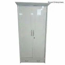 Royal Enterprises White 108 Wooden Modern Wardrobe