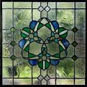 Floral Stained Glass, For Windows, Thickness: 3mm