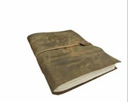 Compass Embossed Handmade Leather Bound Journal