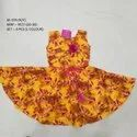 New Fancy Design Sleeves Less Long Frock For Girls