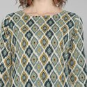 Janasya Women's Turquoise Green Cotton Flex Kurta With Pant(J0032)