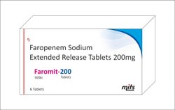 Faropenem Sodium Extended Realease Tablets 200mg