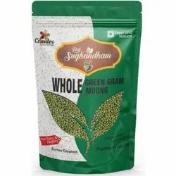 Cilantro Whole Green Moong Gram, Packaging Size: 1 Kg