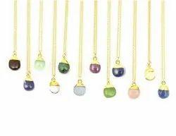 Gemstone Tumble Pendant Necklace