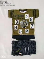 AMAZING  NEW SIMPLE FANCY T-SHIRT & PANT SET FOR BOYS