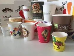 Printed paper cups, Capacity: 100 ML, Packet Size: 10