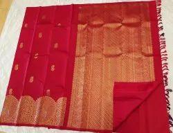Apple Color Silk Saree