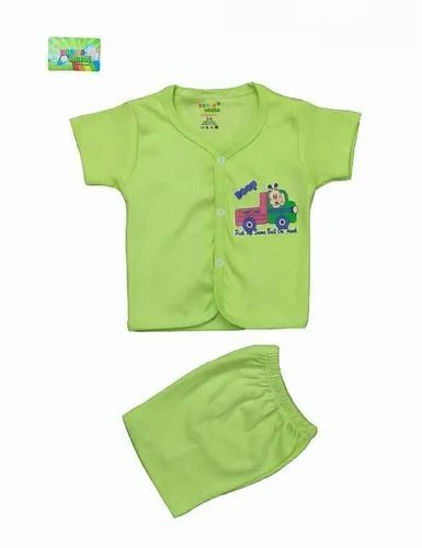 New One Color Printed Baba Suit For Boys & Girls