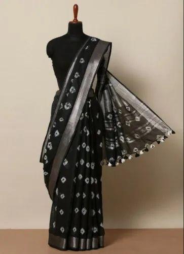 MulMul Linen Fabric Saree