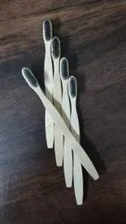 Brown Adults Fancy Bamboo Toothbrushes, For Tooth Cleaning