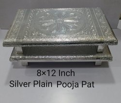 8x12 Inch Silver Plain Pooja Pat