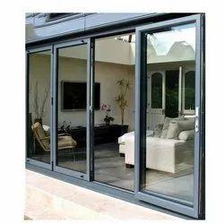 Aluminium Grey Aluminum Sliding Door, For Home