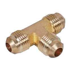 Golden T Shape Brass Flare Union, Size: 2 Inch