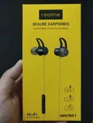 Black Wired Realme Buds 3 Earphone