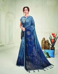 PR Fashion Exude Charm Like A Royalty In This Indogo Blue Shaded Silk Saree