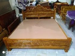 Wooden Double Bed Cot