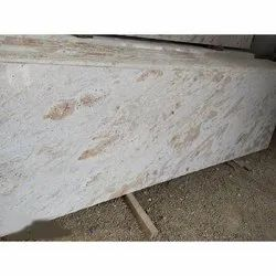 Polished Kidwai Ivory Granite Slab, For Flooring and Countertops, Thickness: 18 mm