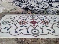 Printed Marble Inlay Flooring