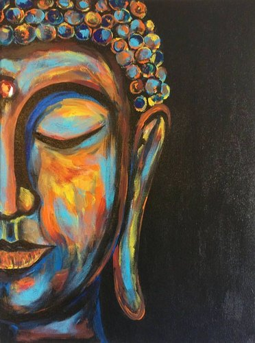 Smooth Acrylic Buddha Wall Hanging Painting, For Decoration