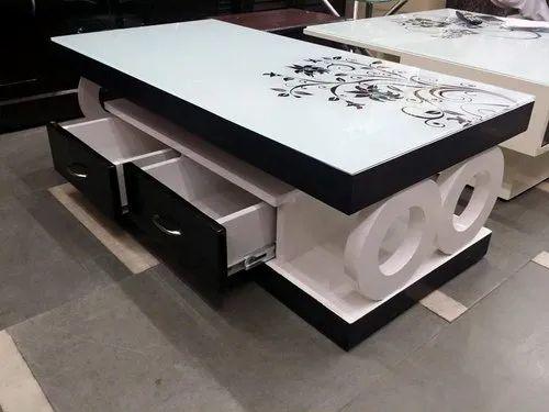 Rectangular 4x2 Feet Designer Glass Center Table Rs 17500 Piece Id 19159664833