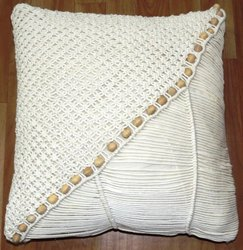 INDIBALA White Crochet Cushion Cover, For Home, Size: X M L Xl