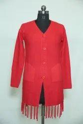 0019 Woolen Long Cardigan