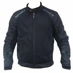 Men Full Sleeves Black Mototech Scrambler Air Motorcycle Jacket