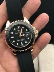 Automatic Analog Rolex Black Watch For Man