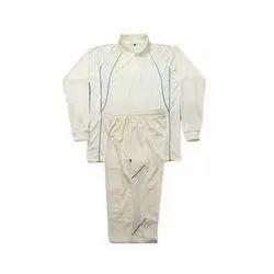 Wind Sky Men's Full Sleeves White Polyester Cricket Uniform
