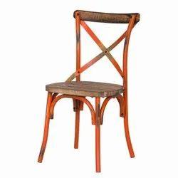 Hv Cross Back Rustic Chair