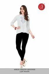 Jelite Cotton Lycra Ankle Length Leggings