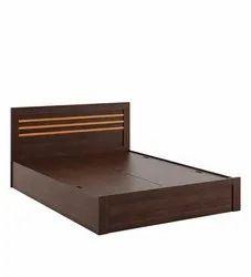 HV Sheesham Wooden Designer Bed, Size: H35 X W75 Xd80