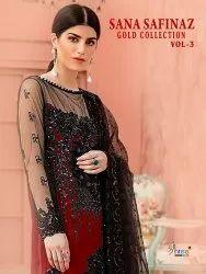 Shree Fabs Sana Safinaz Gold Collection Vol-3 Pakistani Fancy Suits Catalog