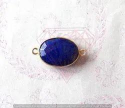 Blue Sapphire Gemstone Bezel