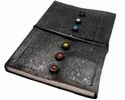 Seven Chakra Embossed Handmade Leather Journal