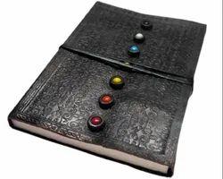 Seven Chakra Embossed Handmade Leather Journal