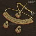 Traditional Mehendi Polish Polki Necklace Set