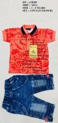 LATEST COLORFUL PRINTED T- SHIRT & PANT SET  FOR BOYS