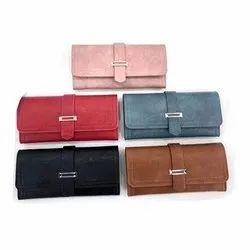 Leather Regular Ladies Hand Clutch Purse