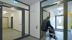 Polyurethane Paint Coated Rail And Stile Door, For Office Entrances, Thickness: 120 Mm