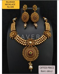 688 Rajwadi Antique Necklace Sets