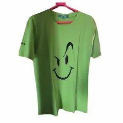 Printed Half Sleeve Mens Hosiery T Shirt