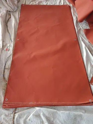 Red Silicone Coated Fire Blanket