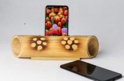 Bamboo Mobile Stand