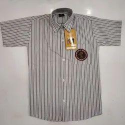 Usha Collar Neck Lining Half Sleeve Cotton Shirt, Machine Wash and Hand Wash