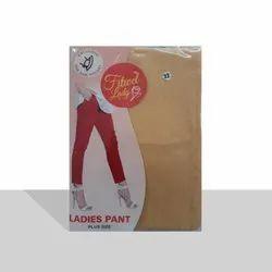 Plain Ankle Length Pants Fitwel Ladies Cotton Pant, Waist Size: Free